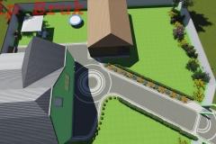 візуалізація подвіря - 3Д
